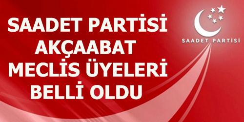 SAADET PARTİSİ MECLİS ÜYELERİ BELLİ OLDU