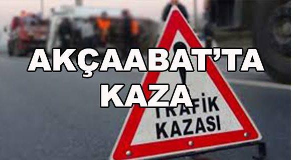 AKÇAABAT'TA TRAFİK KAZASI