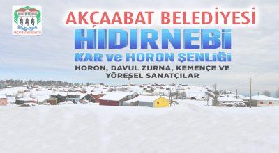 HIDIRNEBİ'DE KAR VE HORON ŞENLİĞİ