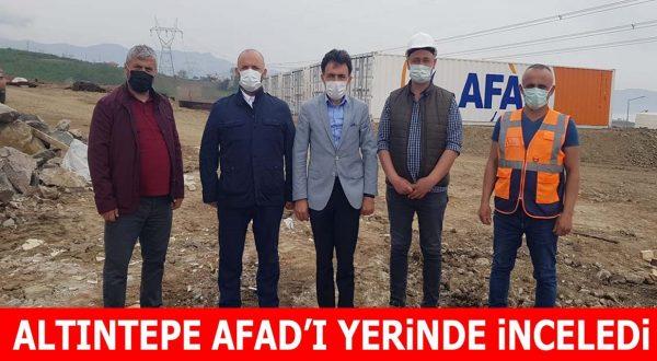 ALTINTEPE AFAD'I YERİNDE İNCELEDİ